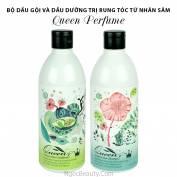 Queen Perfume – Bộ dầu gội & dầu dưỡng trị rụng tóc từ nhân sâm Hàn Quốc