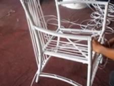 Bàn ghế giả mây - Round Seat Set