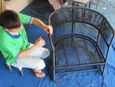 Hướng dẫn cách đan ghế giả mây sân vườn cao cấp