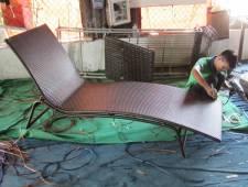 Hướng dẫn cách đan giường tắm nắng nhựa giả mây MT4A24