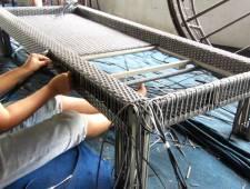Sản xuất ghế hồ bơi mây nhựa MT4A18 khung inox 304