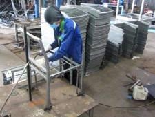 Sản xuất khung sắt mạ kẽm bàn ghế cafe nhựa giả mây MT207