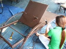 Sản xuất ghế hồ bơi nhựa giả mây ngoài trời MT479