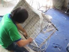 Hướng dẫn đan ghế nhựa giả mây cao cấp khung nhôm