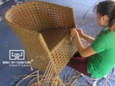 Hướng dẫn đan ghế cafe nhựa giả mây MT2A157