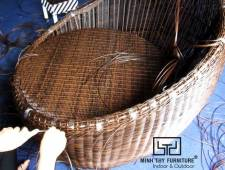 Hướng dẫn cách đan ghế trứng cafe giả mây sân vườn cao cấp