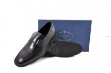 Giày da Prada nam mặc công sở cao cấp màu đen tphcm G006-15