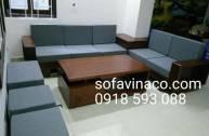Làm đệm ghế sofa cho bộ ghế gỗ Sưa