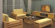 Sofa gỗ 07