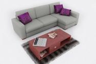 Sofa nỉ hiện đại 12
