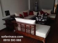 Đệm ghế sofa gỗ kiểu Grand Bois 01