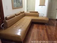 Bọc ghế sofa da góc - Bác Hải - Láng Hạ