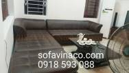 Bọc ghế sofa da tại nhà khách hàng tại Âu Cơ