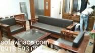Đệm ghế sofa giả da cho ghế gỗ