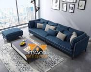 Bộ ghế sofa màu xanh coban sang trọng đẳng cấp