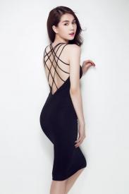 Đầm hở lưng đẹp thiết kế ôm body sang trọng như Ngọc Trinh #325