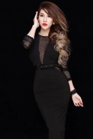 Đầm đen body dài qua gối thiết kế sang trọng, tuyệt đẹp #502