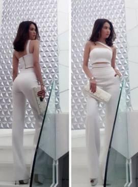 Set bộ quần áo của Ngọc Trinh thiết kế croptop trẻ trung #596