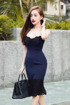 Đầm 2 dây ôm body đẹp thiết kế phối ren trẻ trung #653