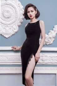 Đầm ôm body xẻ tà thiết kế tôn dáng, sang trọng #667