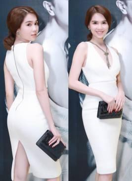 Đầm ôm body của Ngọc Trinh thiết kế tôn dáng, tuyệt đẹp #678