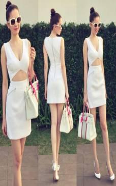 Đầm Ngọc Trinh ôm body thiết kế cutout sexy tôn dáng #679