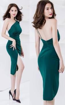 Đầm hở lưng ôm body Ngọc Trinh thiết kế tôn dáng, tuyệt đẹp #680
