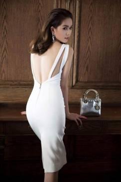 Đầm hở lưng Ngọc Trinh thiết kế ôm body tôn dáng #683