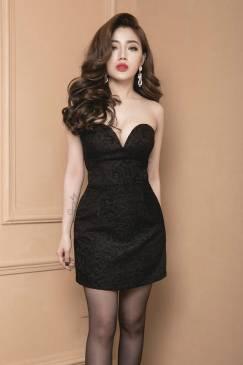 Đầm cúp ngực ôm body đẹp với chất liệu gấm cao cấp #685