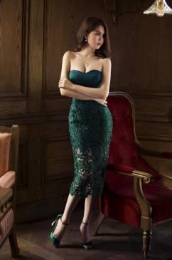 Đầm ống cúp ngực Ngọc Trinh thiết kế ôm body tôn dáng #687