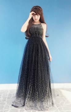 Đầm maxi đẹp dự tiệc thiết kế đơn giản, trẻ trung #692