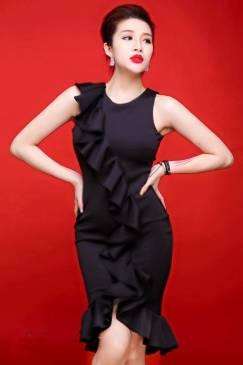 Đầm đen ôm body đẹp thiết kế trẻ trung, mới nhất 2016 #718