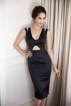 Đầm Ngọc Trinh ôm body thiết kế cutout tôn dáng sexy #723