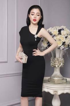 Đầm đen ôm body đẹp thiết kế sang trọng, quý phái #770