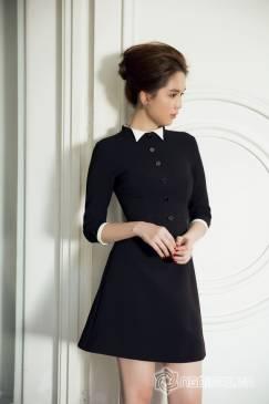 Đầm công sở cao cấp thiết kế tay lỡ trẻ trung như Ngọc Trinh #784