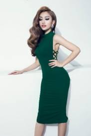 Đầm ôm body đẹp thiết kế cổ cao hở góc nách sexy #810