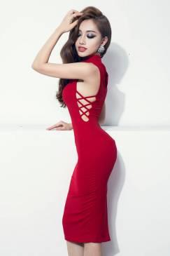 Đầm ôm body đơn giản thiết kế cutout bên hông tuyệt đẹp #810
