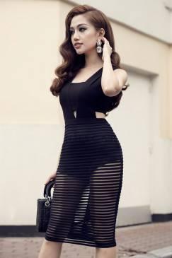 Đầm đen ôm body đẹp thiết kế pha ren lót quần sexy #826