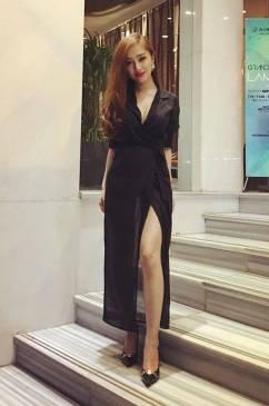 Đầm vest đen sang trọng chất liệu voan trẻ trung, sexy #845
