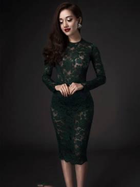 Đầm ren ôm body đẹp với chất liệu ren cao cấp co giãn tốt #844