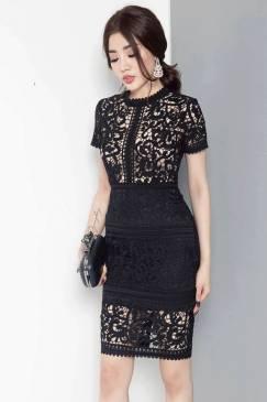 Đầm ren đen cao cấp tuyệt đẹp thiết kế sang trọng, quý phái #832