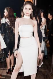 Bộ áo ống croptop và Chân váy xẻ tà như Ngọc Trinh #905