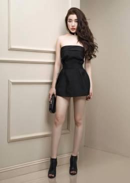 Jumpsuit giả váy thiết kế áo quây trẻ trung, tuyệt đẹp #908