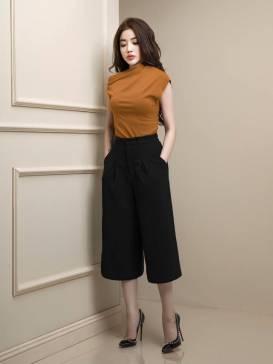 Bộ quần áo ống rộng lửng thiết kế trẻ trung, tuyệt đẹp #909