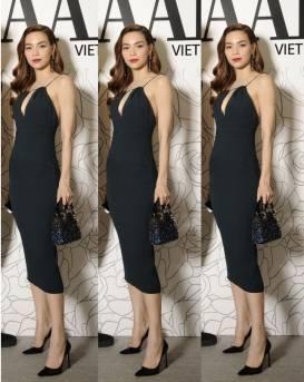 Đầm đen ôm body đẹp thiết kế dài qua gối như Hồ Ngọc Hà #910