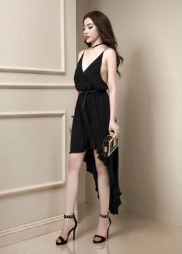 Đầm mullet dự tiệc thiết kế 2 dây hở lưng sexy #912