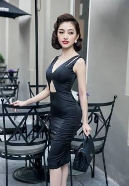 Đầm phi bóng dự tiệc thiết kế ôm body cutout sexy #916