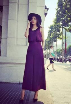 Bộ quần áo lửng thiết kế ống rộng đẹp như Phạm Hương #917