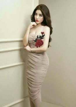 Đầm lưới ôm body đẹp thiết kế đính hoa trẻ trung, tinh tế #922