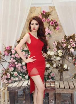 Đầm đỏ xẻ tà đẹp thiết kế ôm body trẻ trung tôn dáng #927
